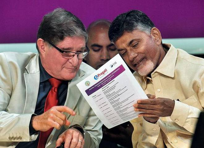 Andhra CM launches e-Pragati Project for governance in the state