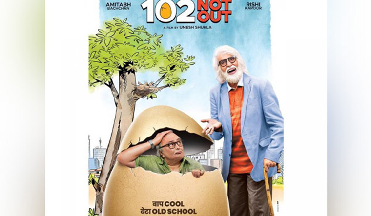 Big B shares quirky new poster of '102 Not Out'