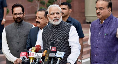New Year, New Law, New Bharat: PM Modi says on passage of GST bills