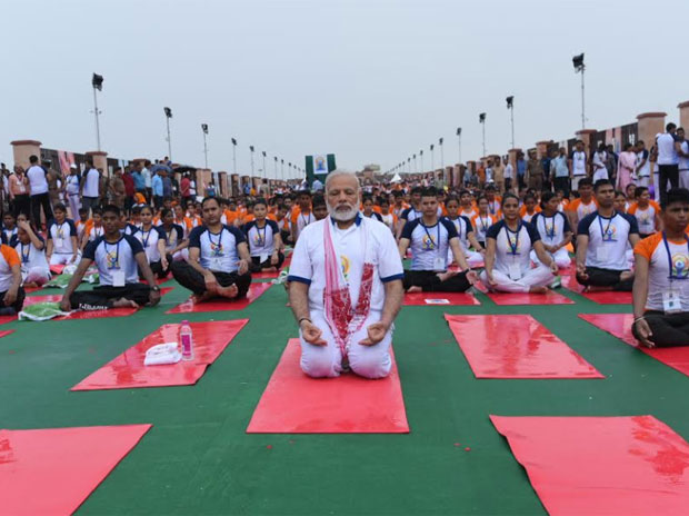 Lakhs stretch and twist on Yoga Day, PM extols yoga connect