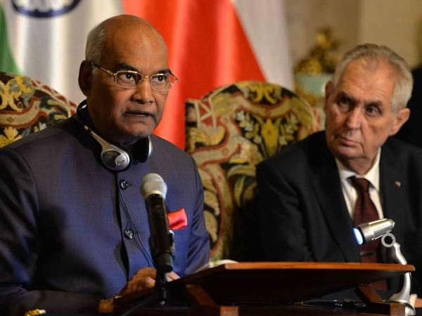President Kovind asks Czech companies to open defence manufacturing sector in India