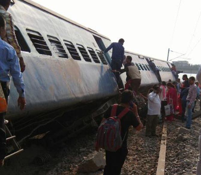 Rajya Rani Express derails in Uttar Pradesh; two injured, compensation announced