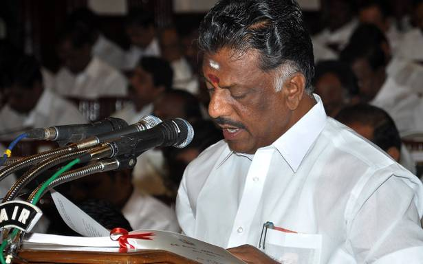 OPS sworn in as TN deputy CM; to hold finance portfolio