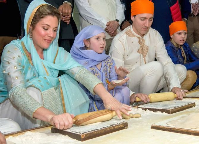 Trudeau, family visits 'Langar Hall', perform 'sewa' at Golden Temple