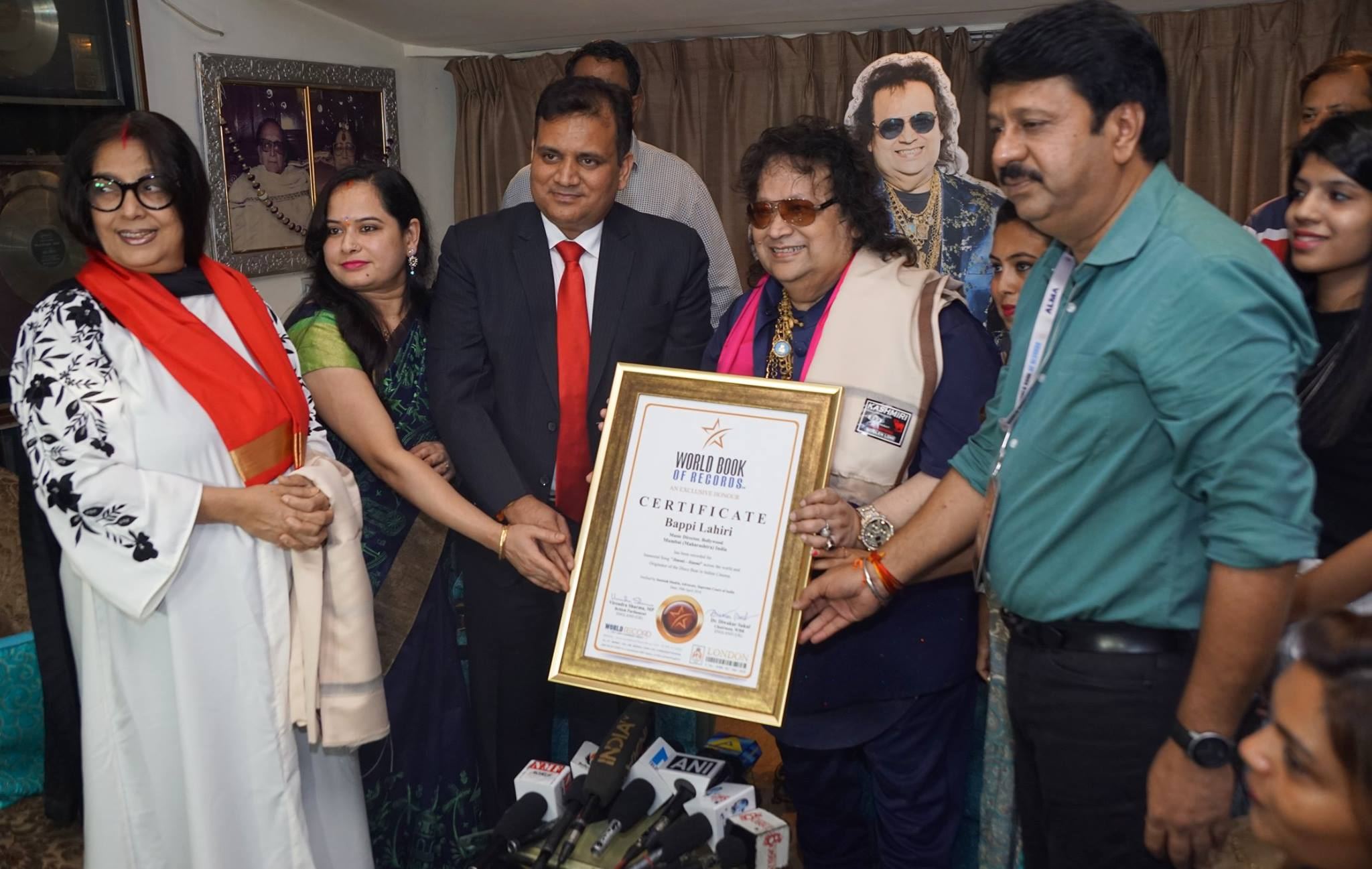 Music Director Bappi Lahiri of India gets included in World Record from UK