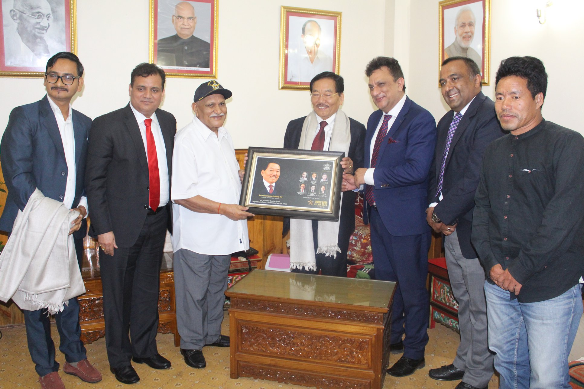 World Book of Records recognition for Chief Minister Pawan Chamling