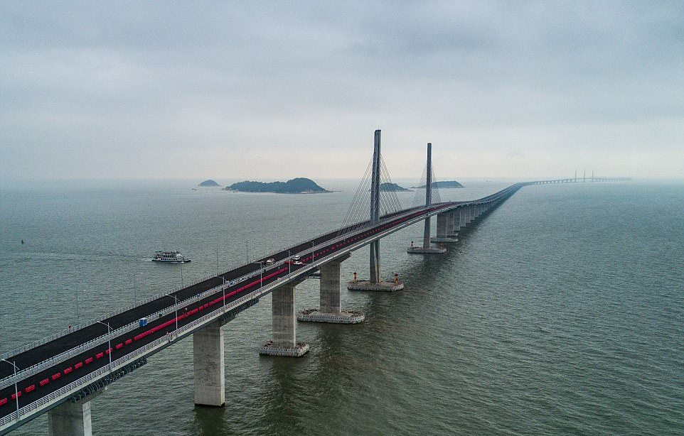 China ready to inaugurate 55-kilometre sea link connecting Hong Kong, Zhuhai, Macau