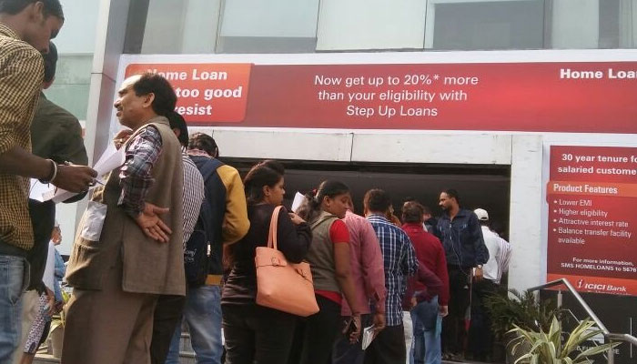 Long queues, chaos continue at ATMs even as banks pump in cash in empty machines