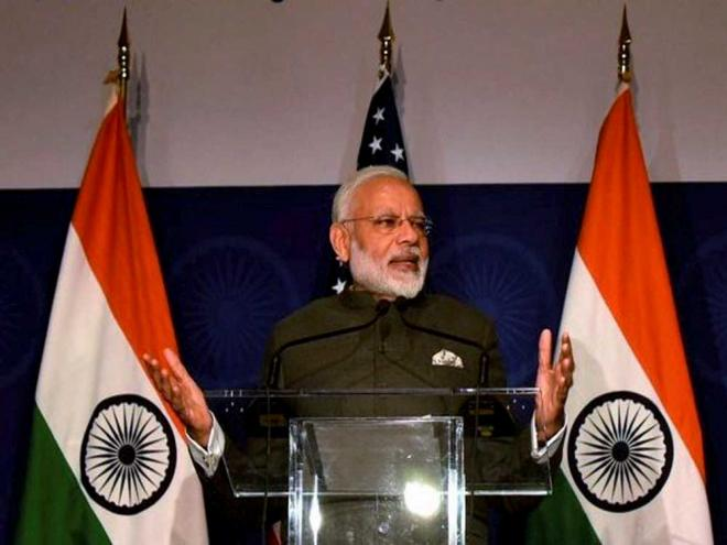 Not single taint on my govt in three years, says Modi in US