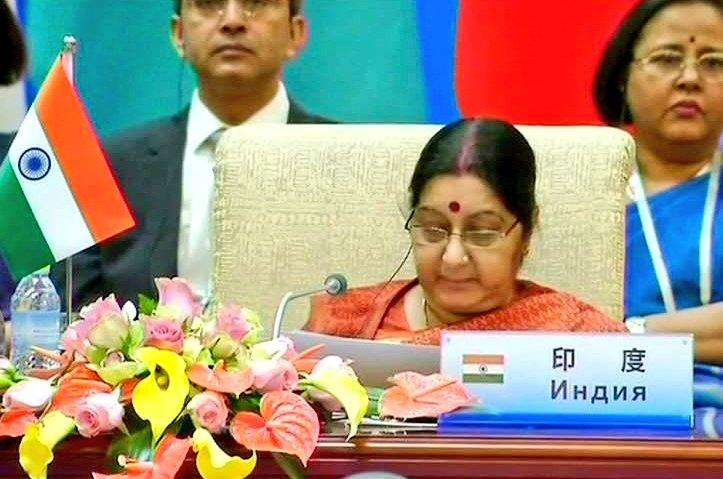 Terrorism an enemy of basic human rights: Swaraj at SCO Foreign Ministers' meet