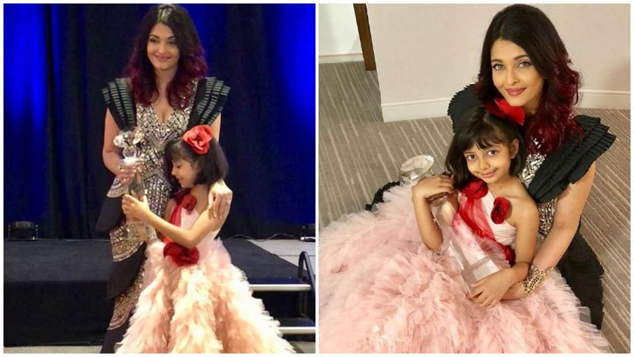 Aishwarya collects 'Meryl Streep Award for Excellence' with Aaradhya