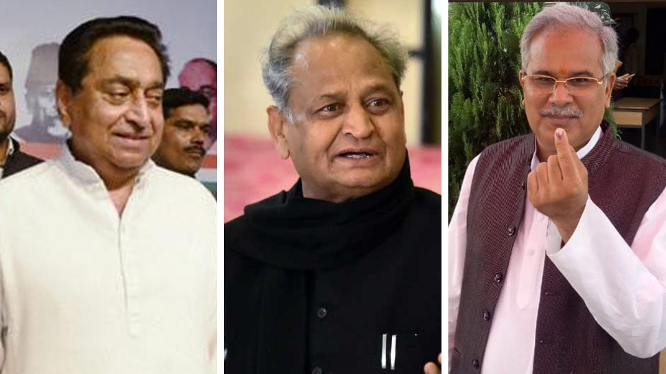 Kamal Nath in Madhya Pradesh, Ashok Gehlot in Rajasthan and Bhupesh Baghel in Chhattisgarh likely to be next CMs