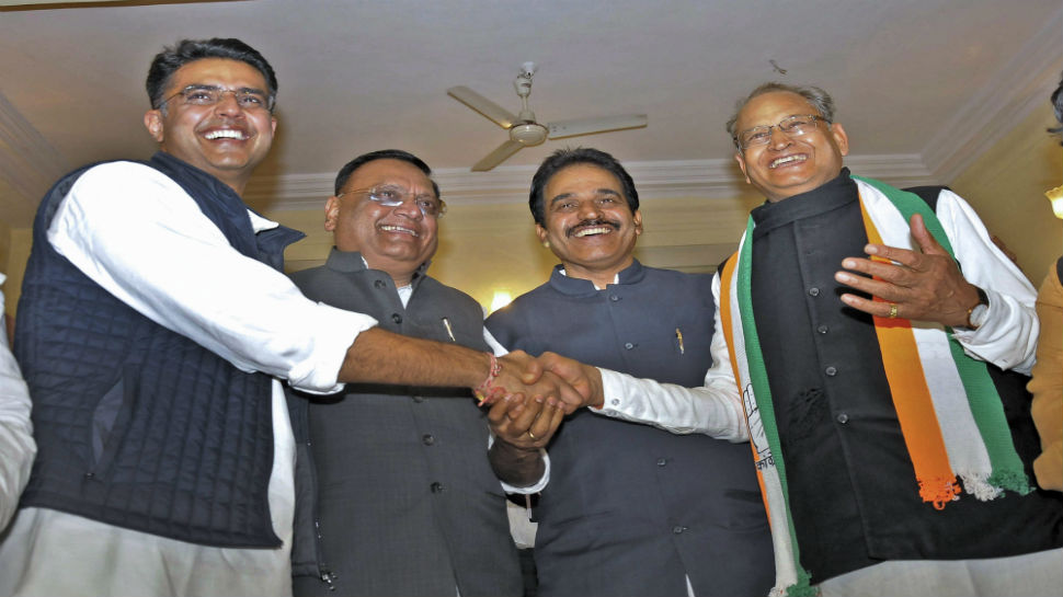 Congress names Ashok Gehlot as Rajasthan CM, Sachin Pilot to be his deputy