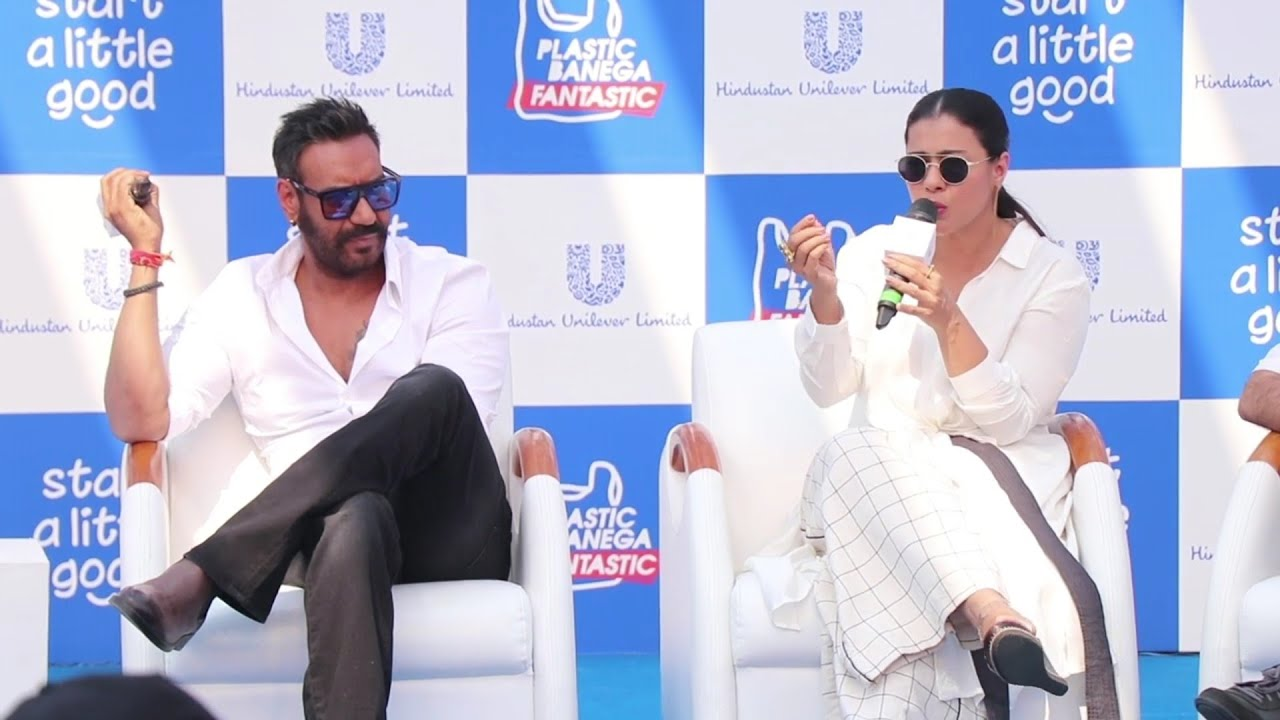 Ajay, Kajol urge people to recycle, reuse plastic