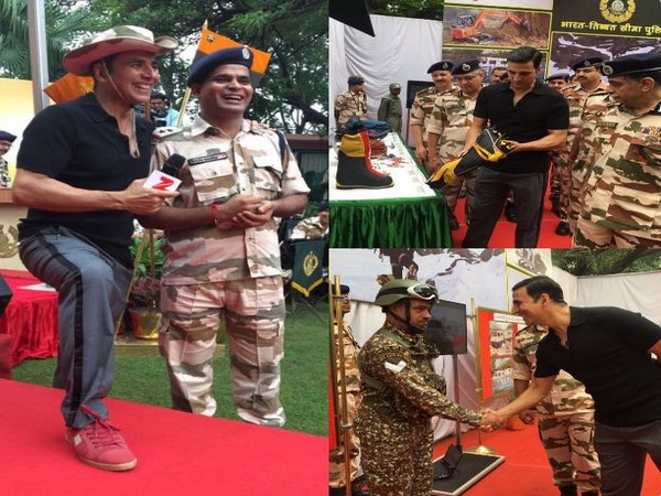 Akshay Kumar spends time with Indo-Tibetan Border Police force