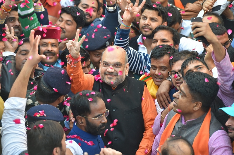 BJP will form govt in Gujarat, Himachal: Amit Shah