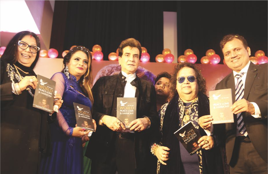 Bollywood Star Jeetendra releases Bappi Lahiri's book World Peace, Love & Harmony