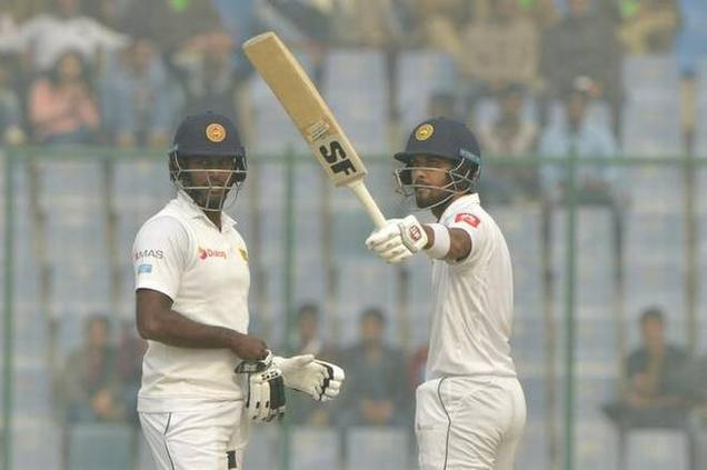Mathews, Chandimal defy Indian bowlers to reach 270/4 at tea