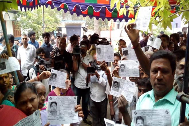 41 percent polling recorded till 1 pm in RK Nagar assembly bypoll