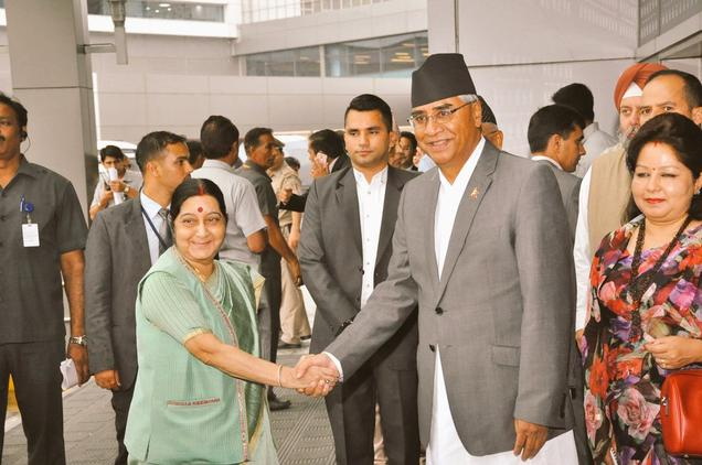Nepal PM Deuba arrives in India on five-day visit