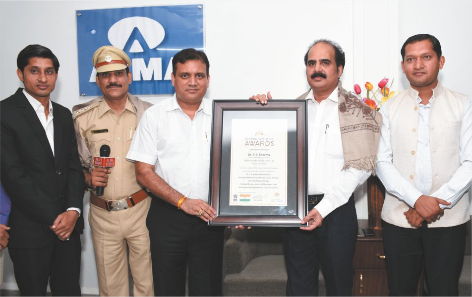 Dr. R.K. Sharma (Joint Commissioner, GST) gets honored by National Excellence Awards