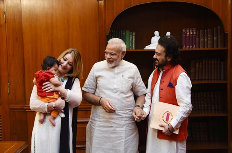 Adnan Sami's little angel Medina makes a trip to the PMO's office