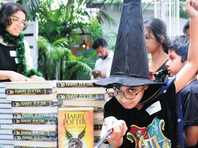 Harry Potter dispels grey skies, fans flock to stores