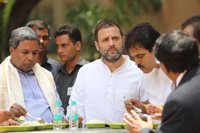 Rahul launches Indira canteen in Bengaluru, meals available at Rs. 5, 10