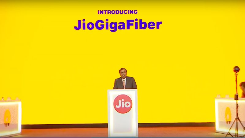 RIL launches fixed-line broadband services Jio GigaFiber