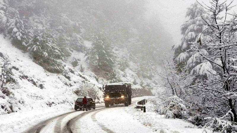 Fresh snowfall in Gulmarg, higher reaches of Kashmir