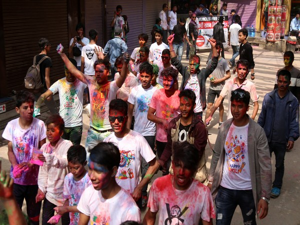 Nepal's citizens celebrate Holi in Kathmandu's Durbar Square