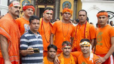 Indian pilgrims throng Nepal's Pashupatinath for