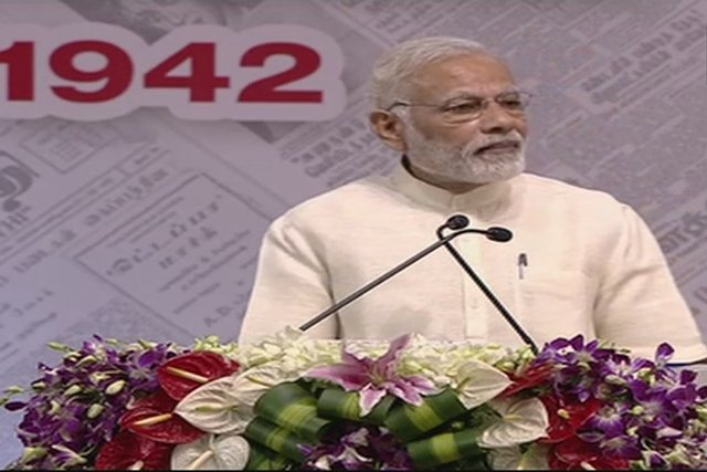 Media is a mean of transforming society: PM Modi