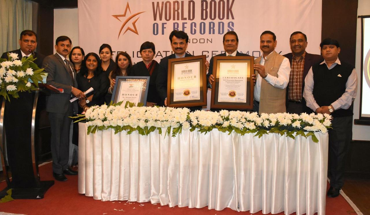 Madhya Pradesh Prosecution Department, Bhopal gets included in World Book of Records, London for 21 cases of Prosecution in a Year.