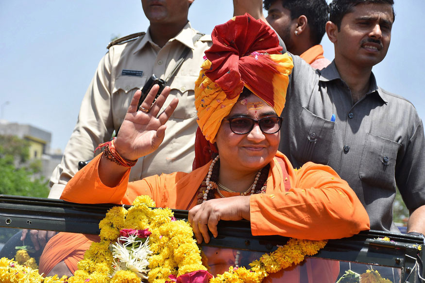 Sadhvi Pragya Thakur joins BJP, may contest against Digvijaya Singh from Bhopal