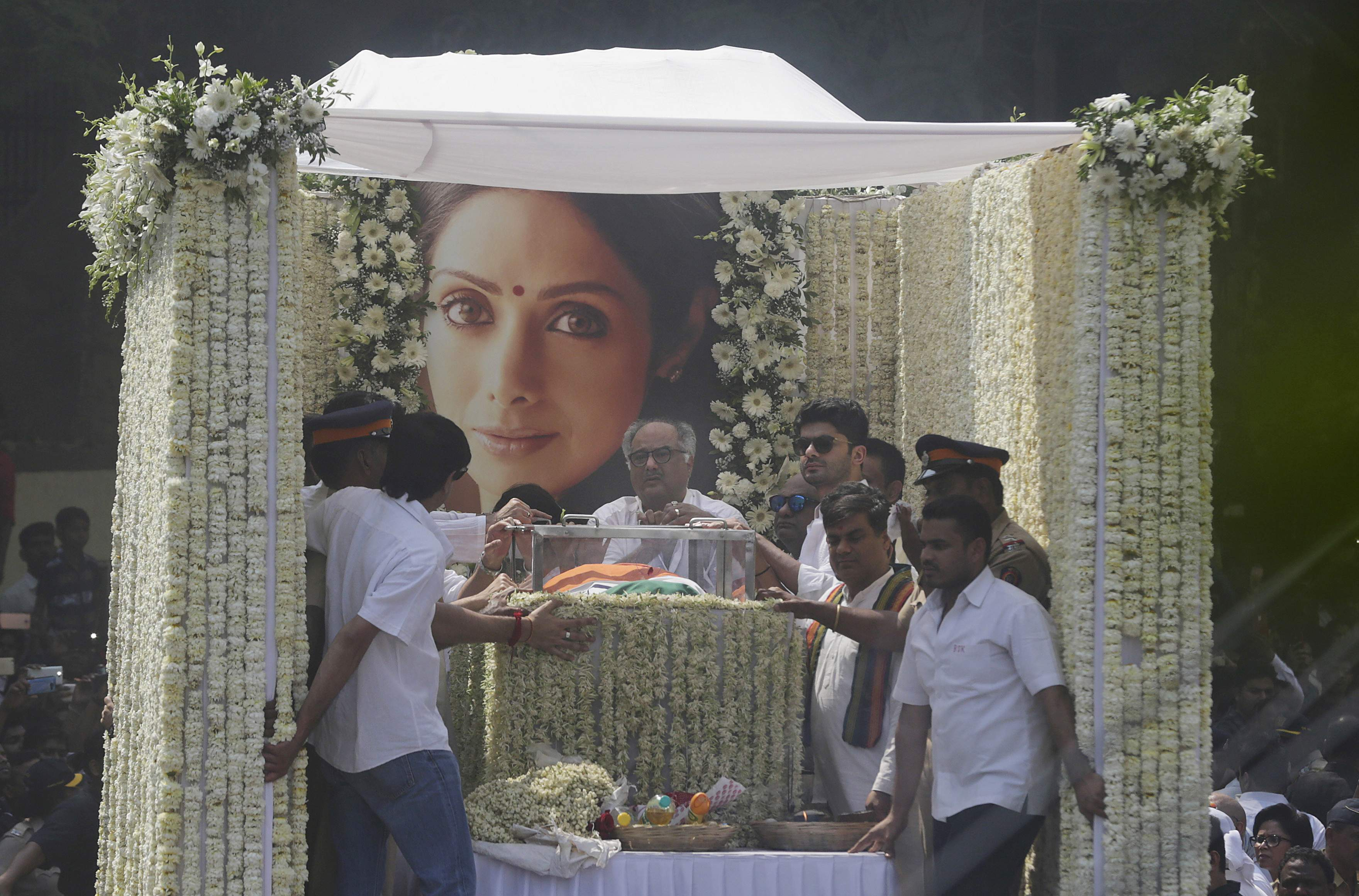 India bids final adieu to first female superstar: Sridevi cremated with state honours