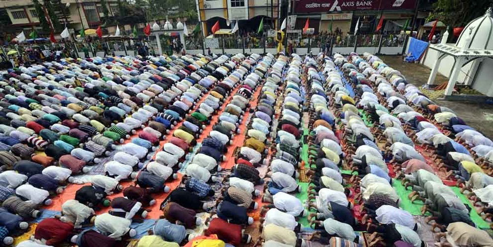Tripura Muslims pray for world peace ahead of Eid