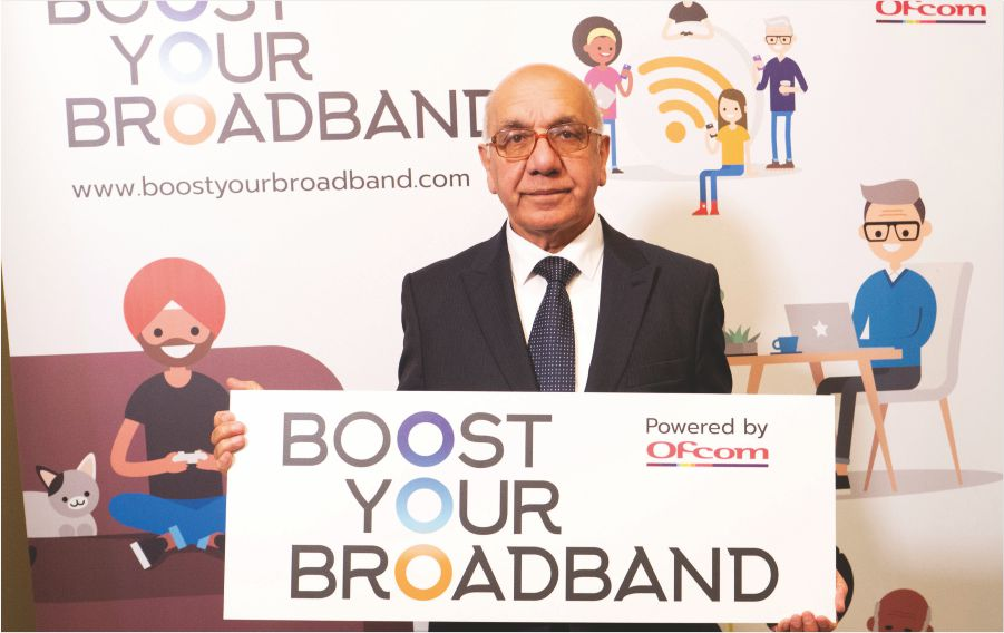 Virendra Sharma, Member of British Parliament urges Southall residents to boost their broadband