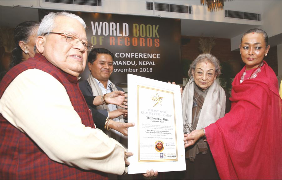 Heritage Dwarika's Hotel of Nepal gets certified by World Standardization Certification – London