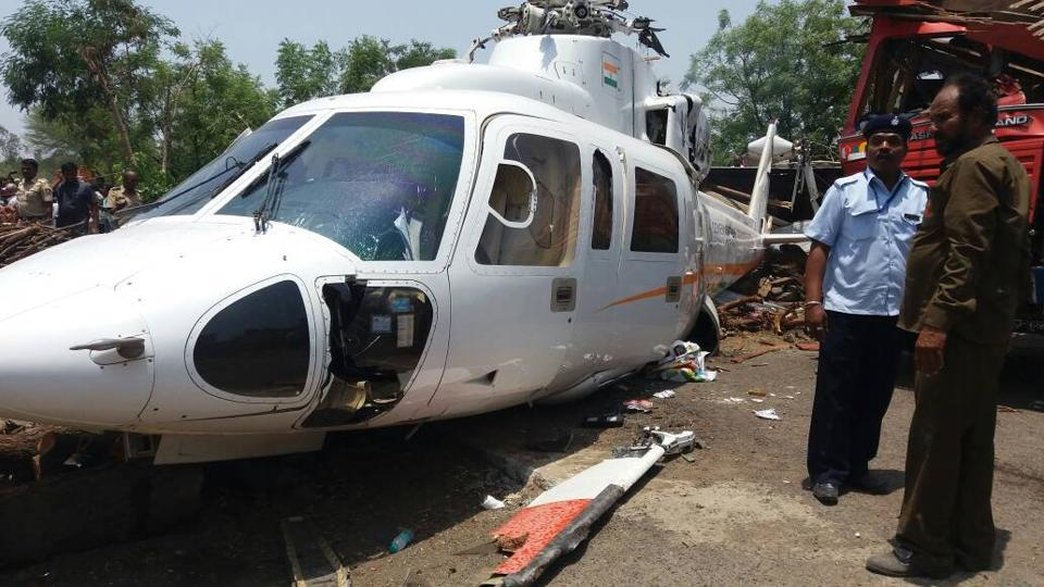 Fadnavis' helicopter crash lands, CM safe