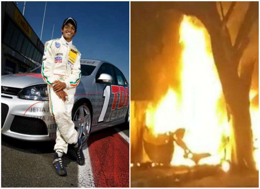 Chennai road accident: Racer Ashwin Sundar and wife charred to death after their BMW catches fire
