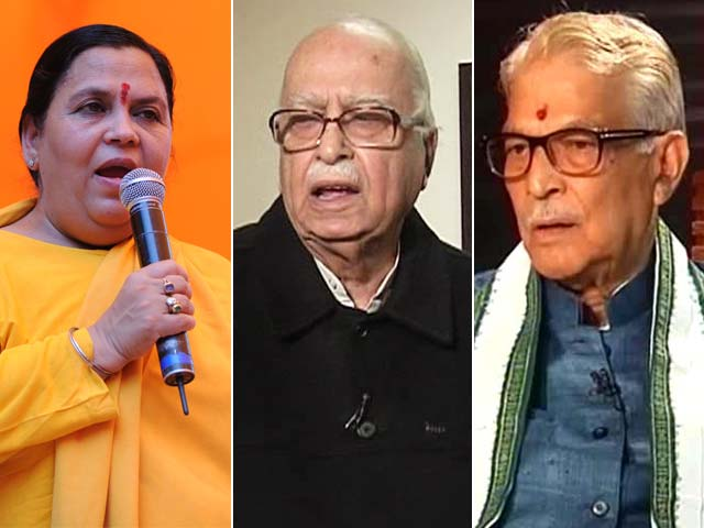 Advani, Bharti, Joshi to stand trial in Ayodhya case