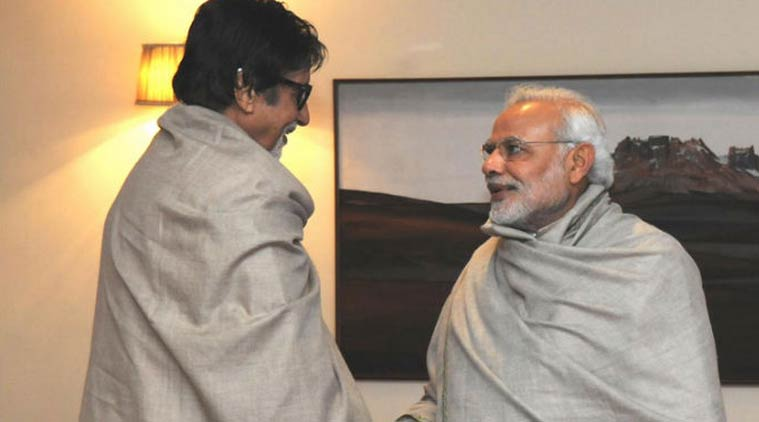 Big B thanks PM Modi for acknowledging role in Swachh Bharat