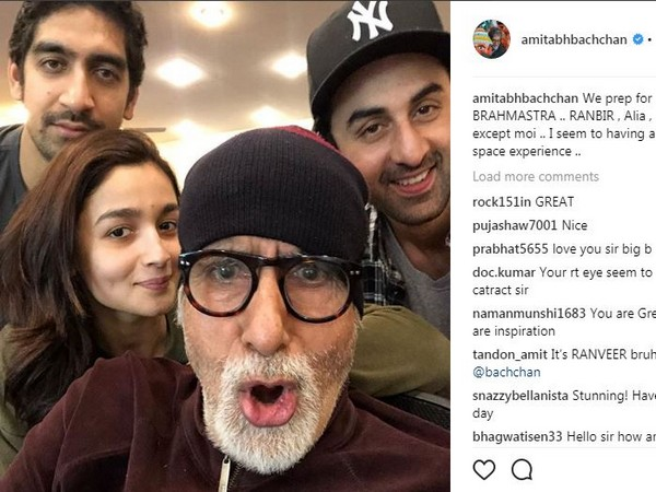 Prepping up for 'Brahmastra' quite remarkable: Big B