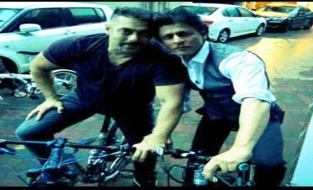 Shah Rukh, Salman enjoy bike ride together