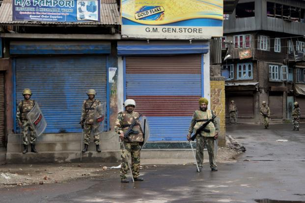 Curfew remains in force in Kashmir, death toll climbs to 42