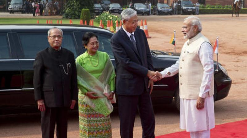 PM Modi holds talks with Myanmar president to improve bilateral ties