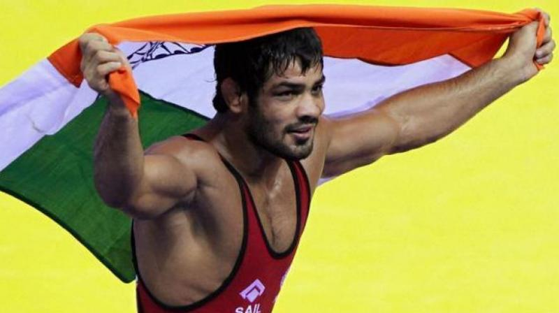 Sushil Kumar wins gold at Commonwealth Wrestling