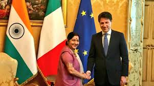 Swaraj discusses bilateral relations with Italian PM