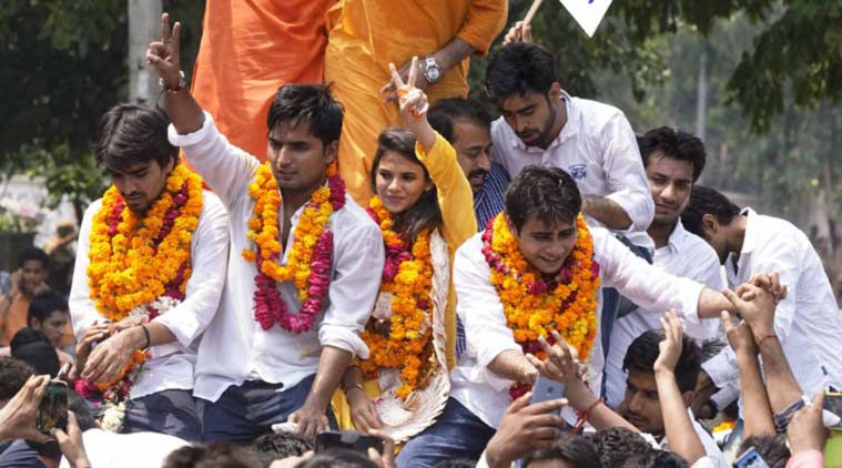 ABVP Wins Top 3 Posts In Delhi University Polls, NSUI Makes Comeback